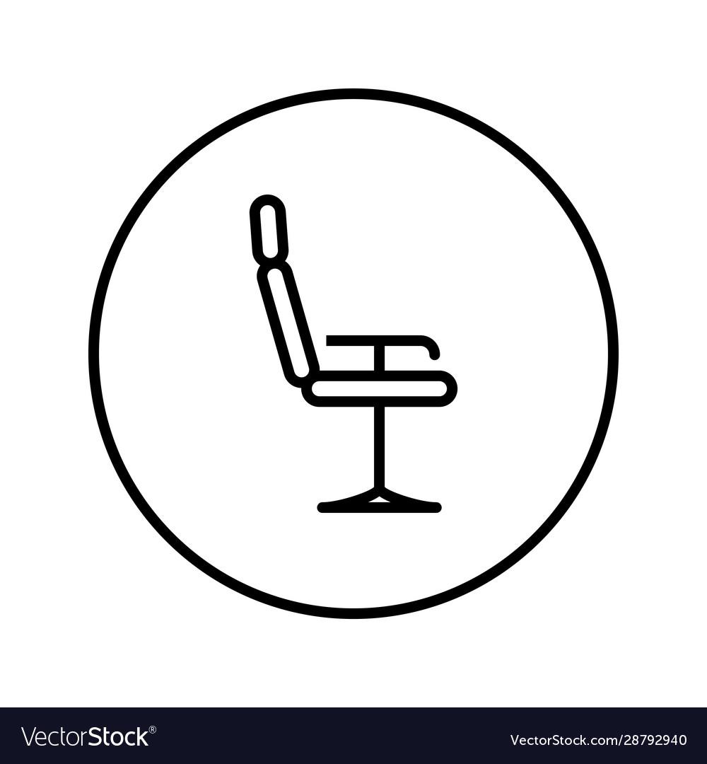 Barber chair universal icon editable thin line