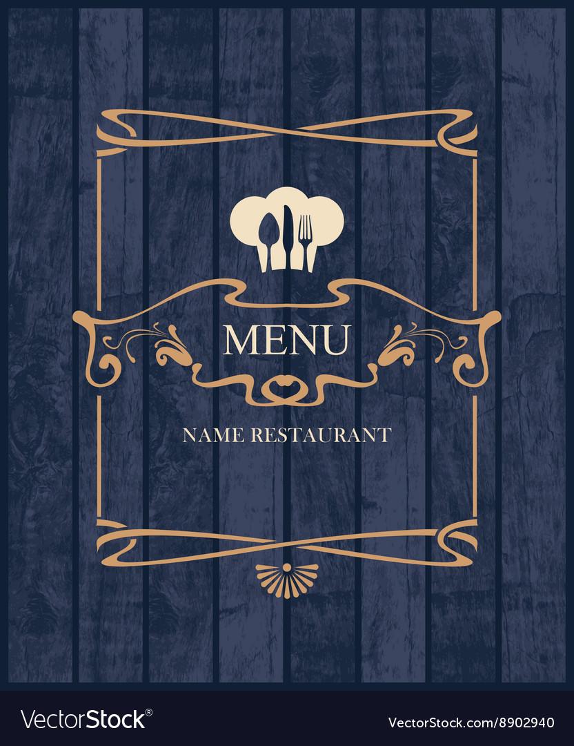 Cover for restaurant menu