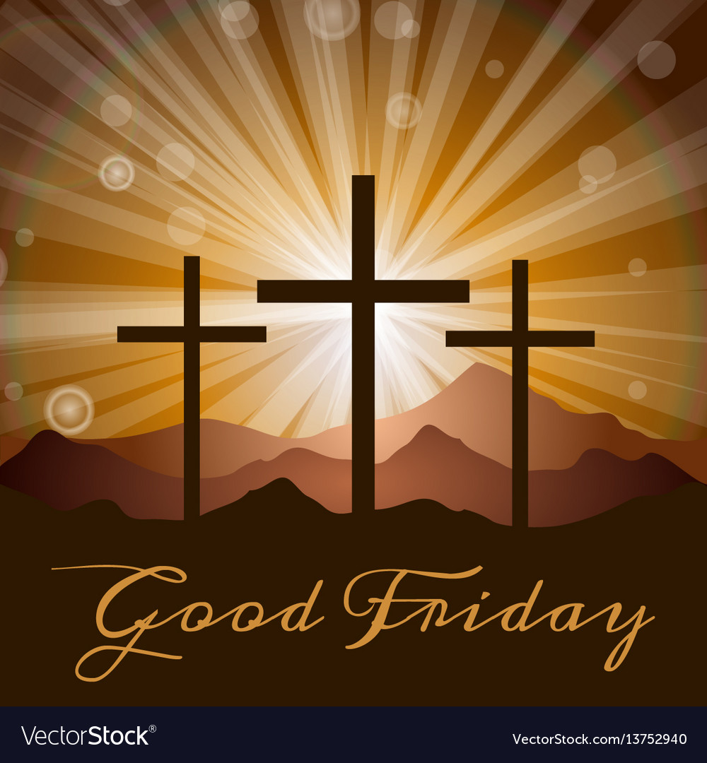 Crosses and mountains vector image
