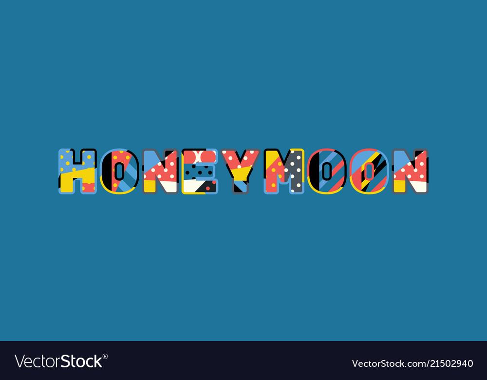 Honeymoon Concept Word Art Vector Image