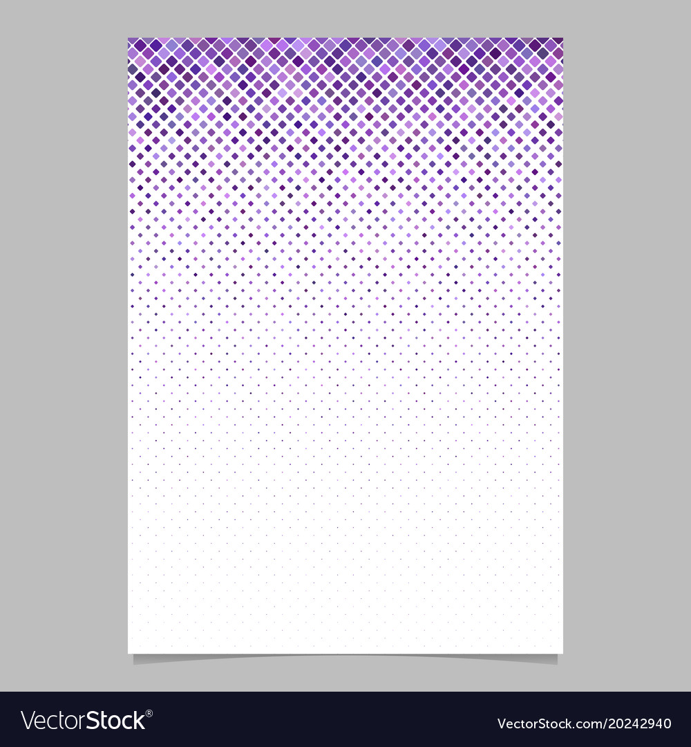 Square pattern flyer design - mosaic page vector image