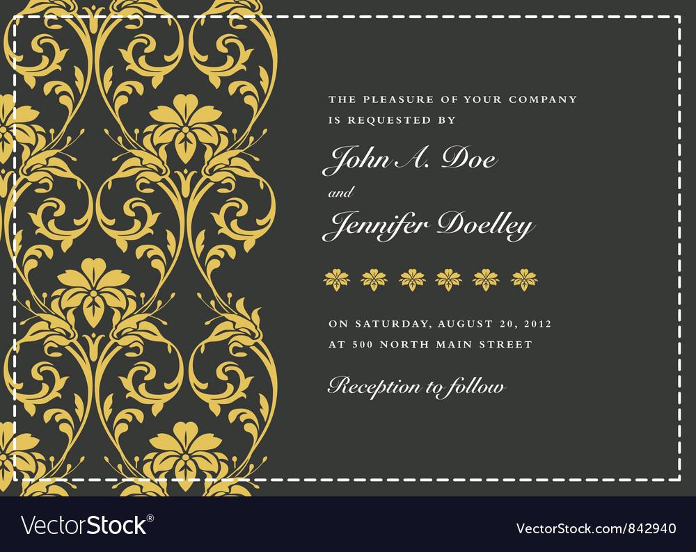 Wedding invitation templates royalty free vector image wedding invitation templates vector image junglespirit Image collections