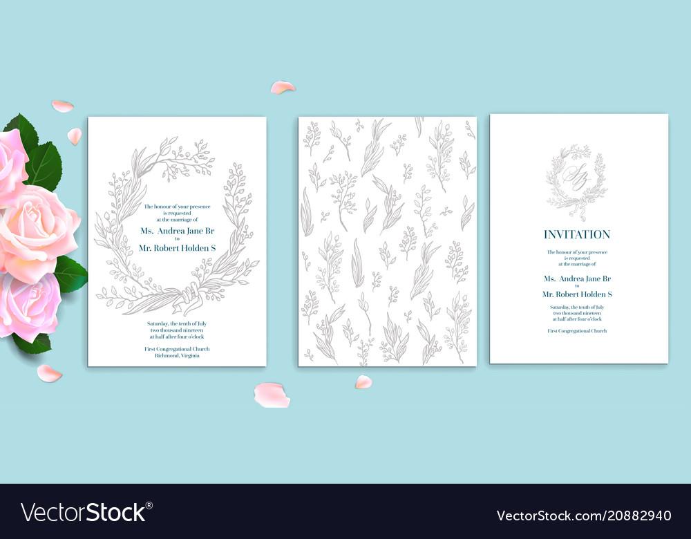 Wedding set card