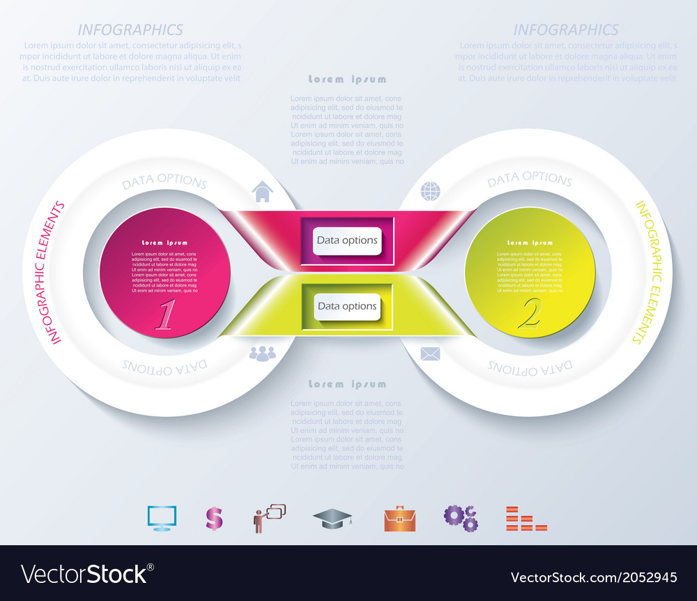 Abstract infographic design with color circles and