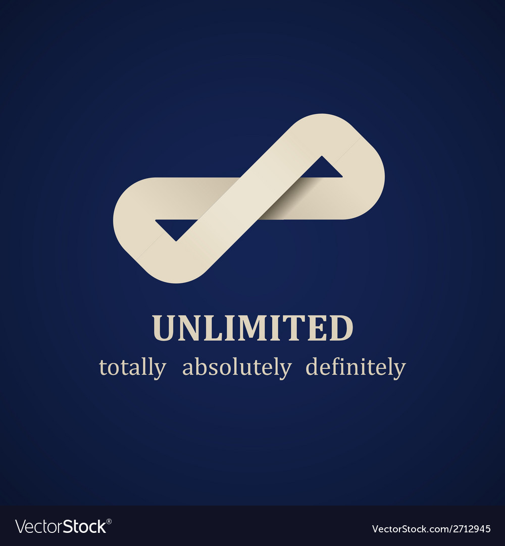 Abstract unlimited symbol design template