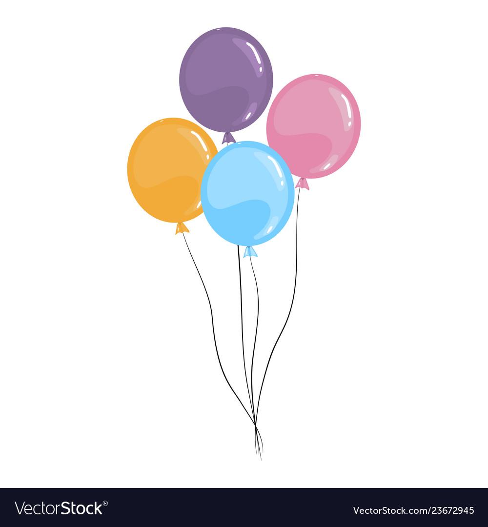 Cartoon Balloons Isolated On A White Royalty Free Vector See more ideas about balloon cartoon, balloons, balloon animals. vectorstock