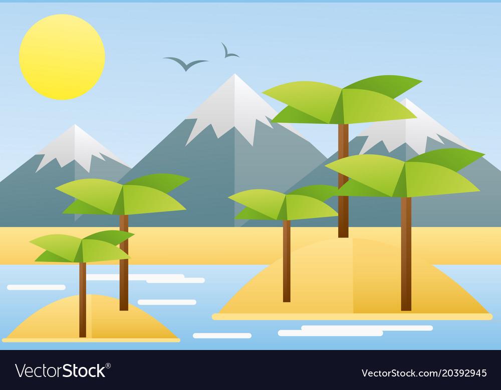 Flat design of tropical summer