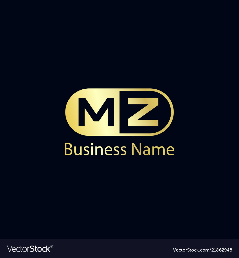 Initial Letter Mz Logo Template Design Royalty Free Vector