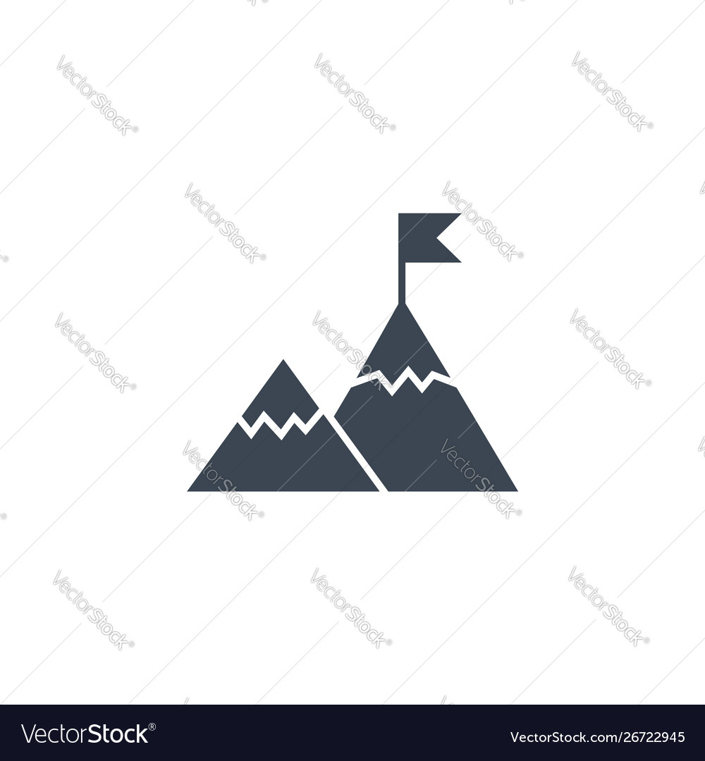 Mountains related glyph icon