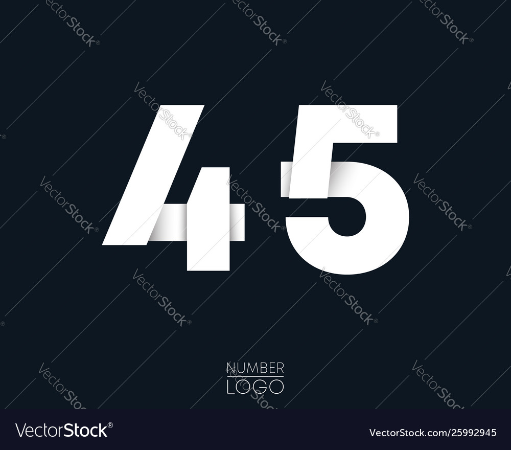 Number 4 and 5 template logo design