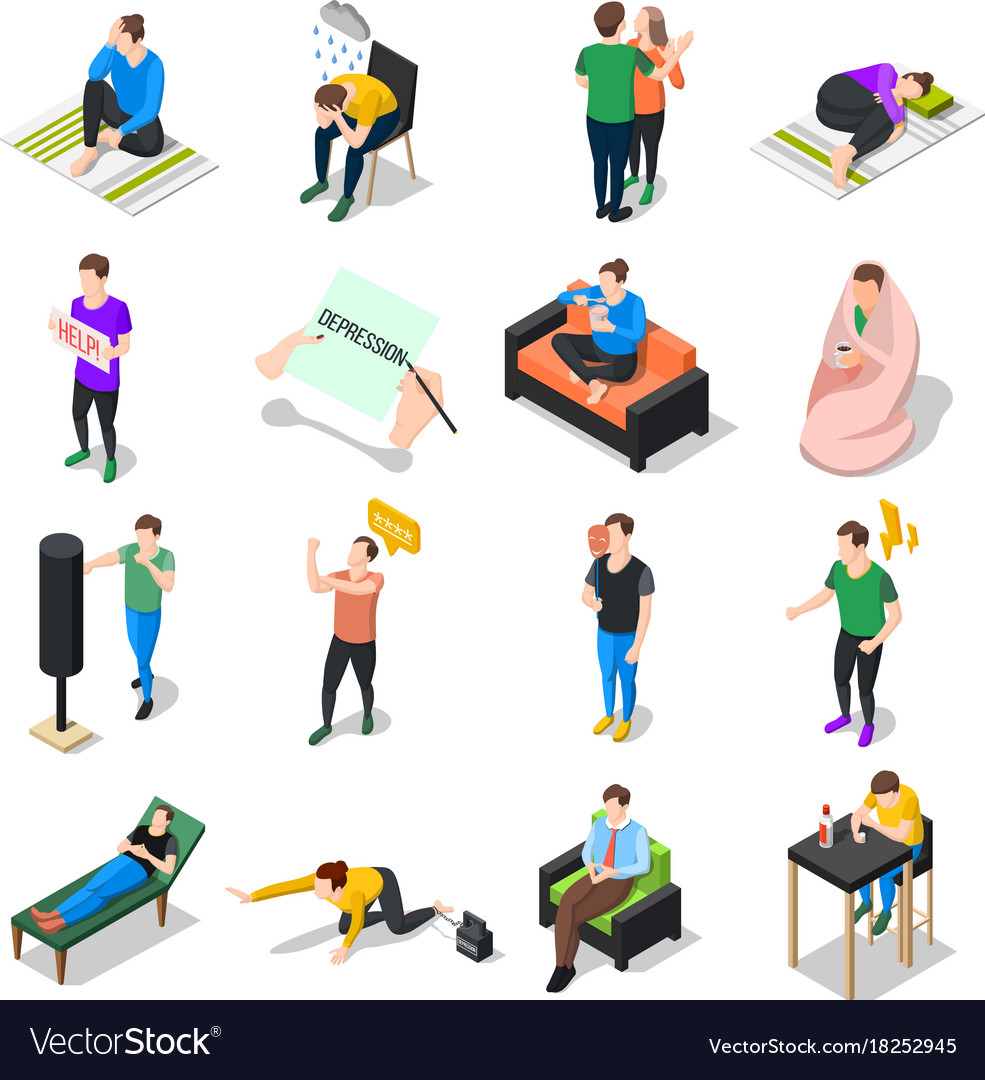 People under stress set vector image