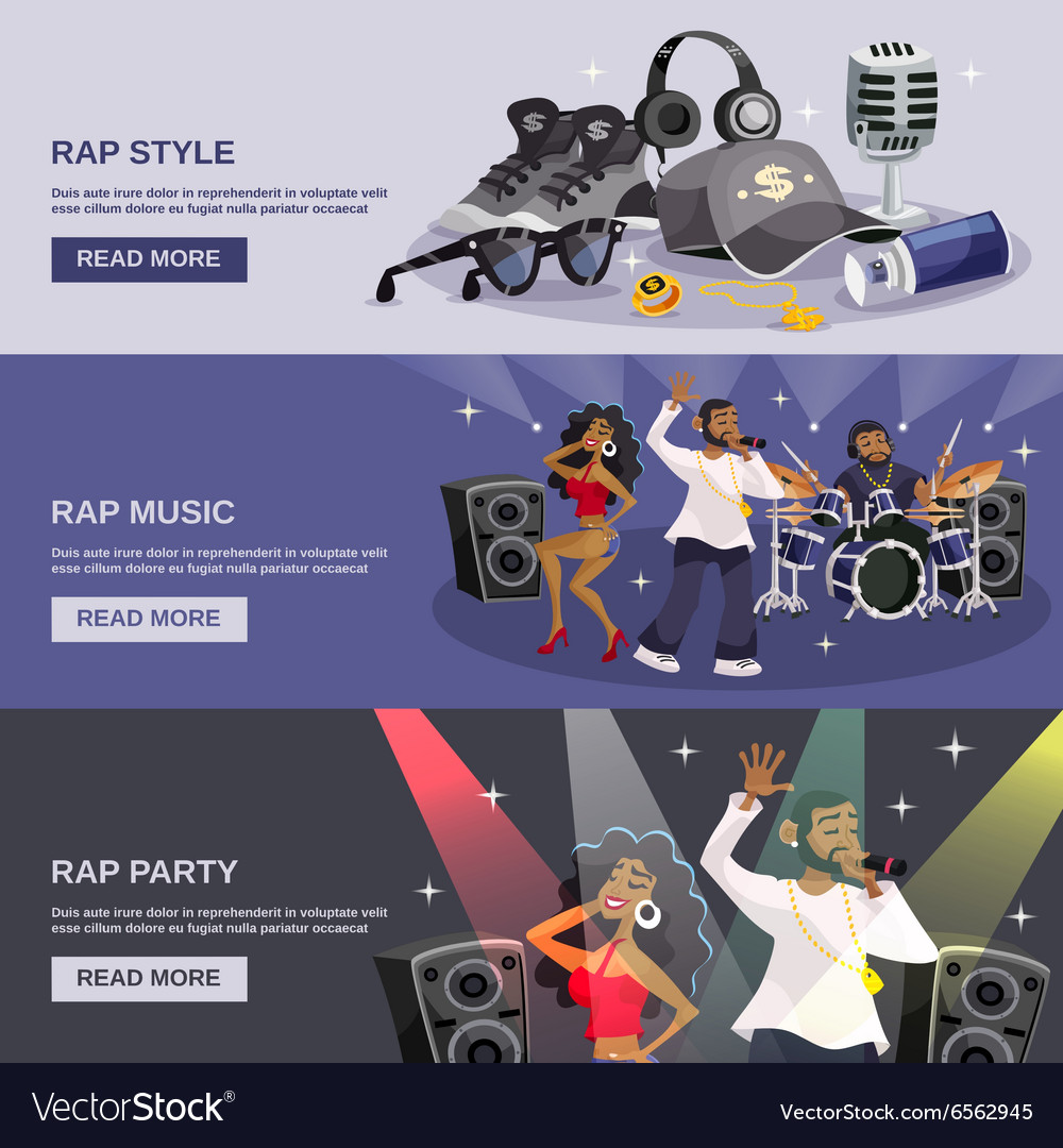 Rap Music Banner vector image