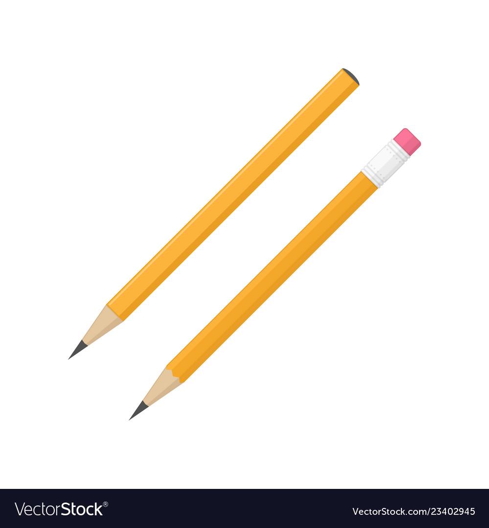 Realistic pencil set