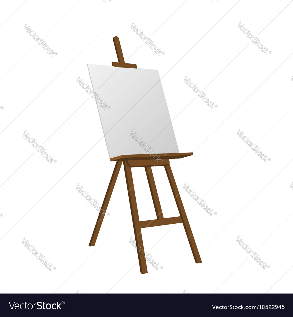 Sienna Art Easel Royalty Free Vector Image Vectorstock