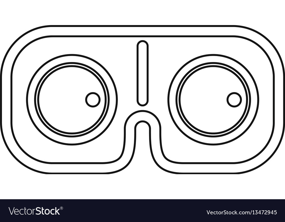 Vr glasses icon outline style vector image