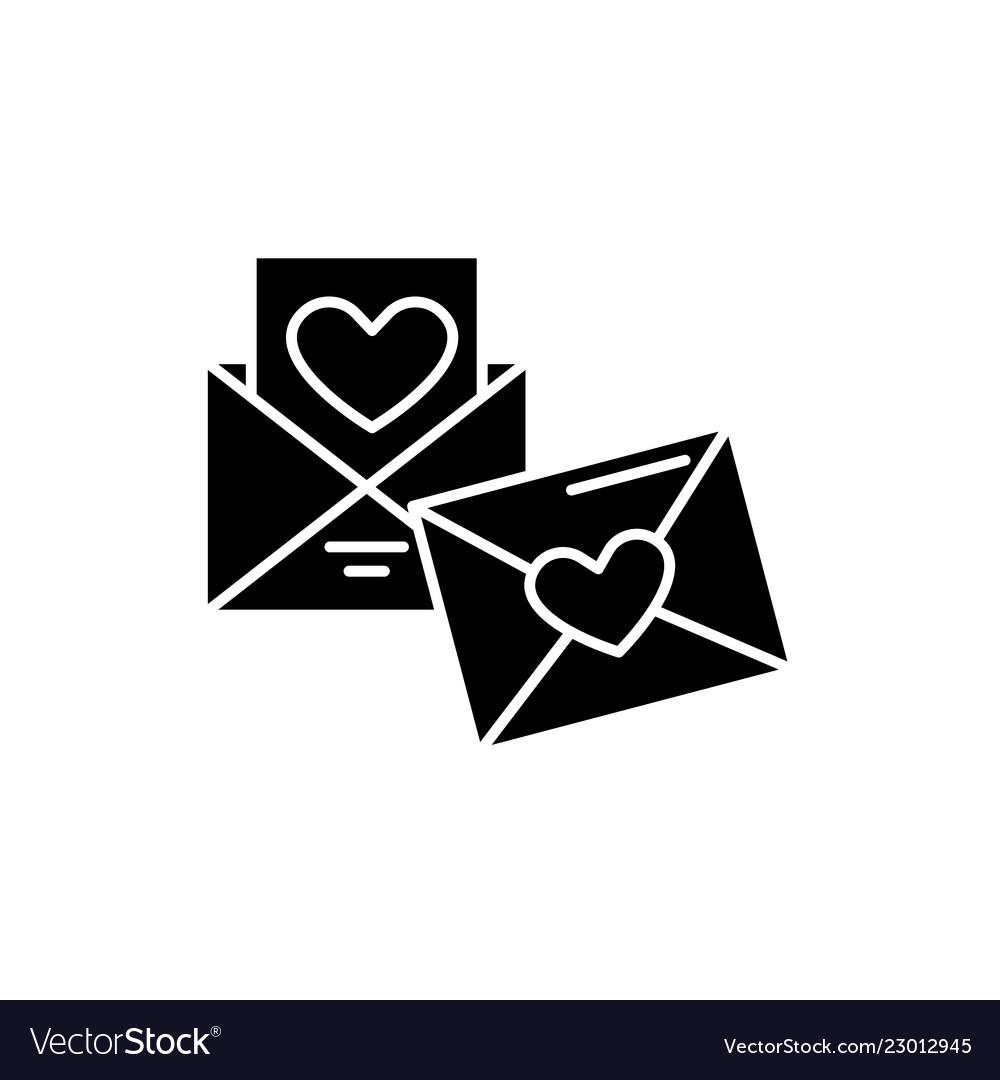 Wedding invitation black icon sign on