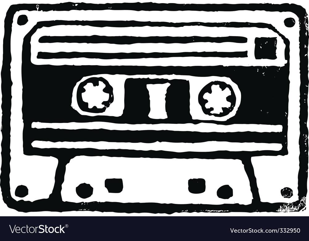 Audio cassette stamp