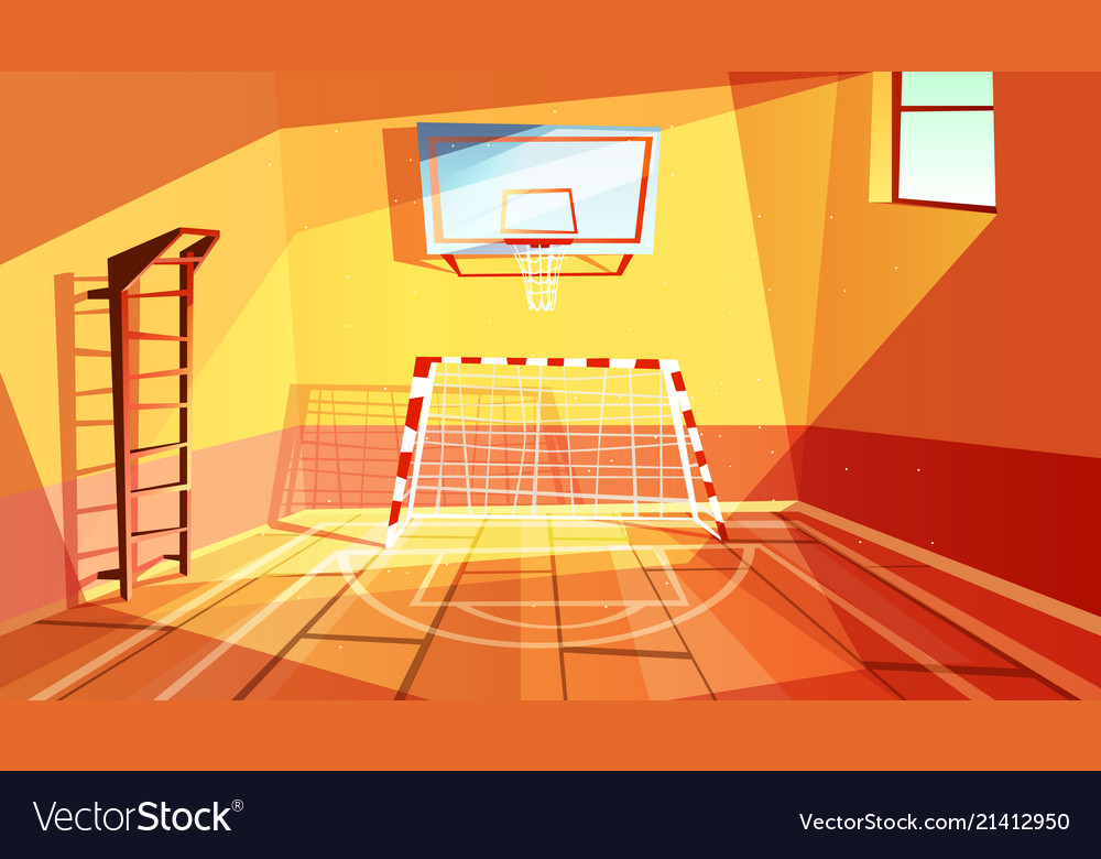 Vector isometric school gym locker room stock vector royalty free