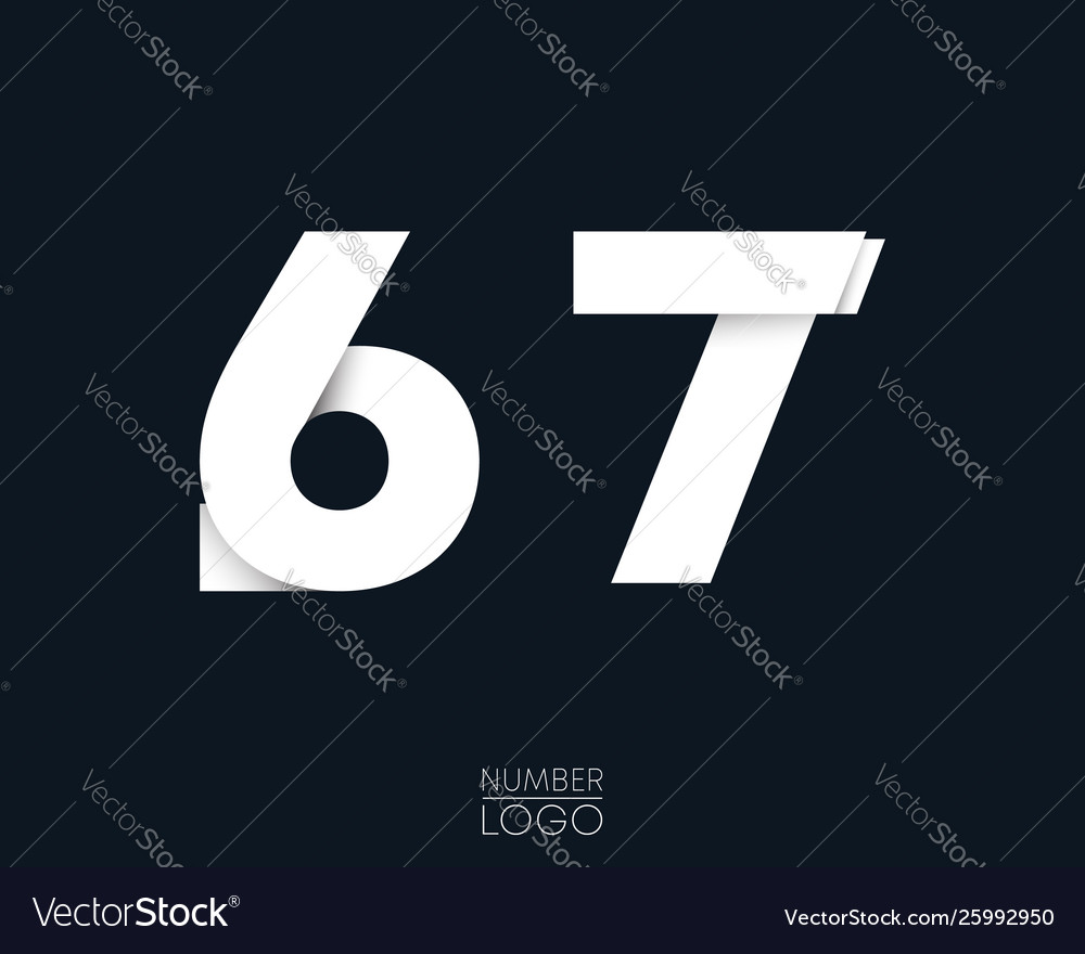 Number 6 and 7 template logo design