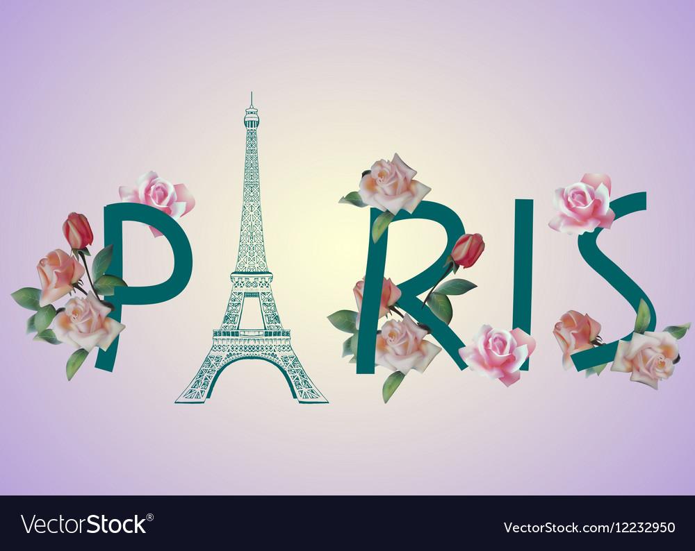 Paris text design