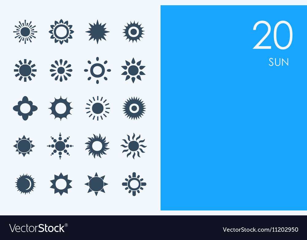 Set of BLUE HAMSTER Library sun icons