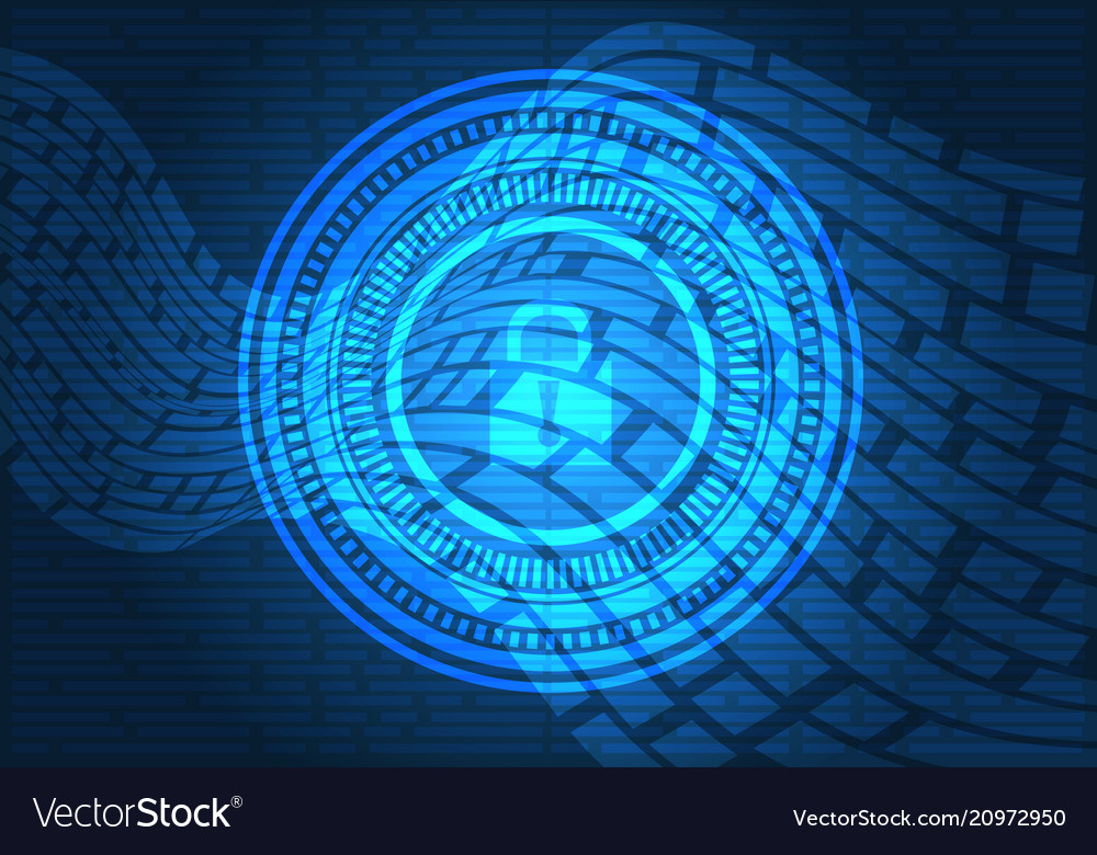 Technology data security computer internet vector image