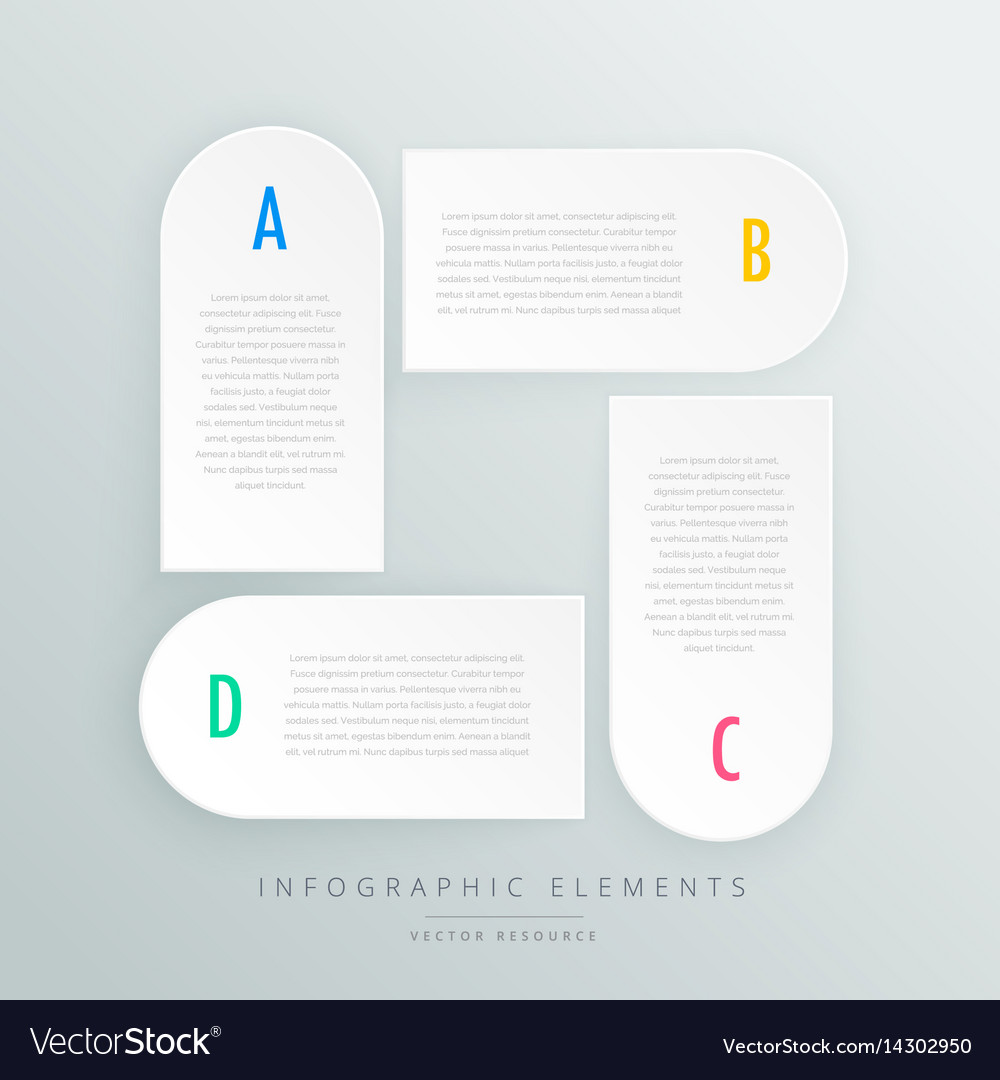White infographic steps presentaion template