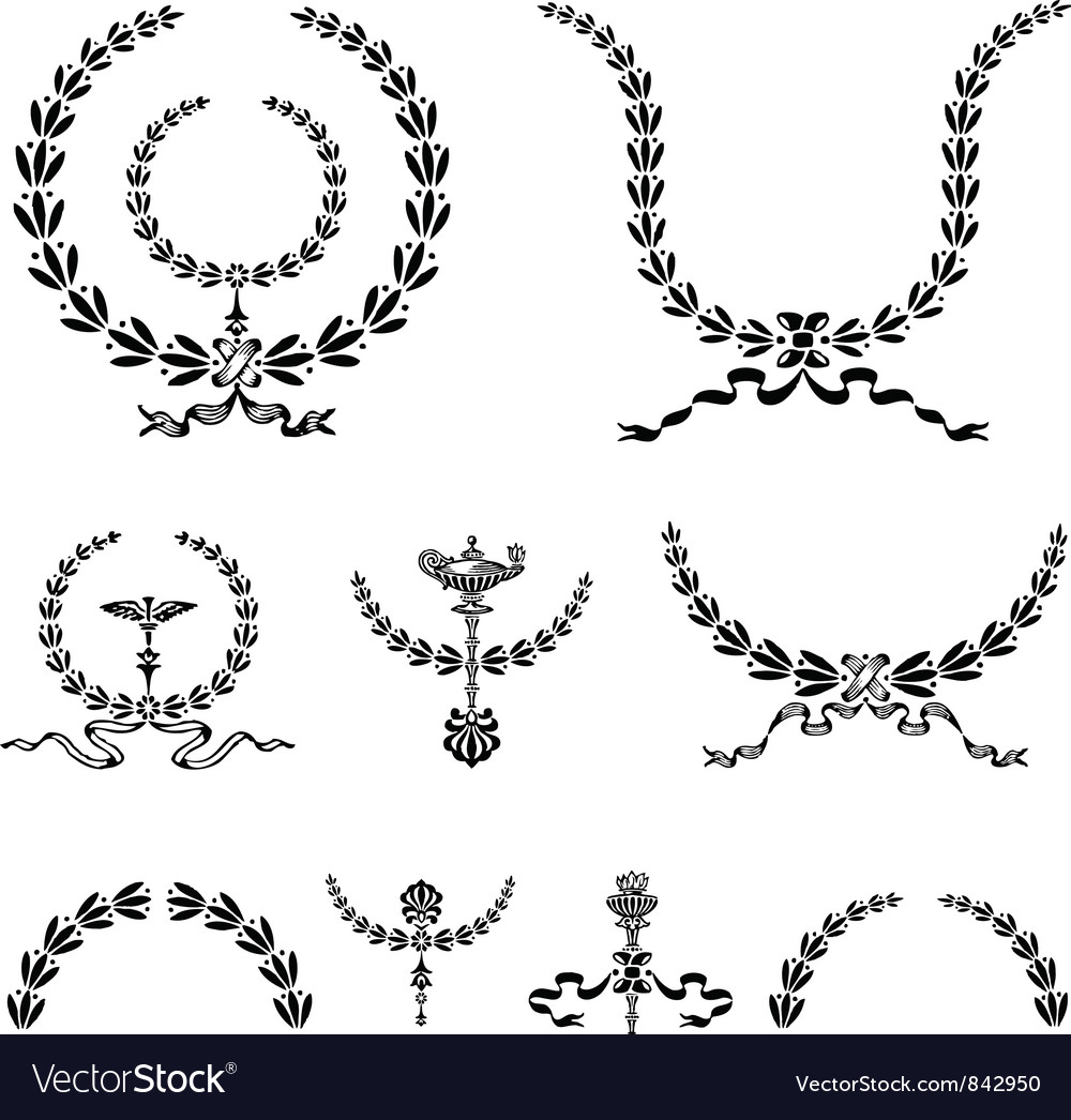 Wreath and Ornament vector image
