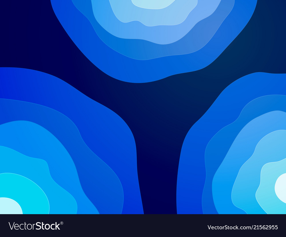 Abstract blue waves circle background