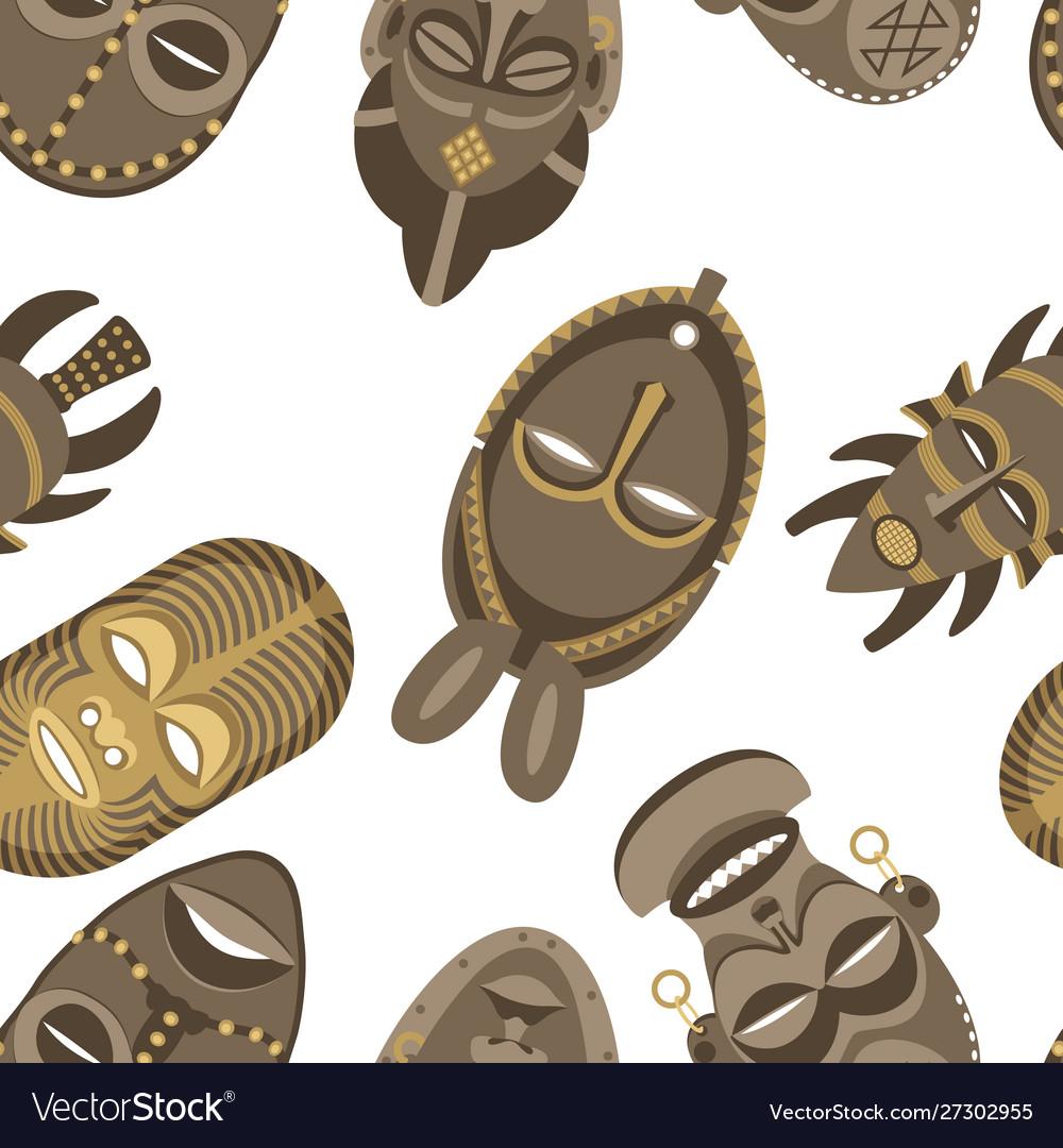 African masks pattern