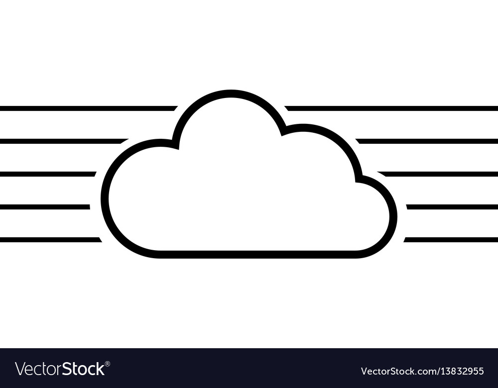 cloud cloudy template create a logo for a cloud vector image