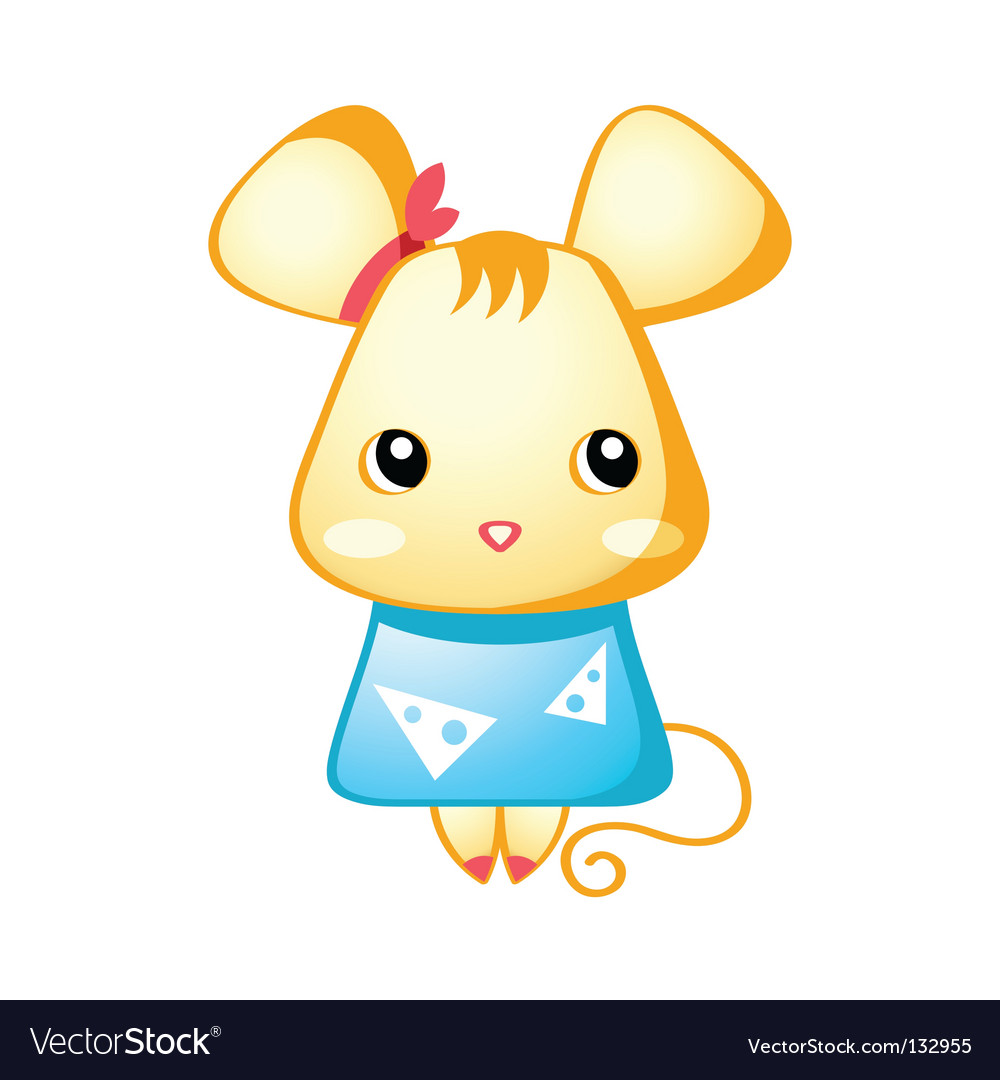 Cute mouse Royalty Free Vector Image - VectorStock