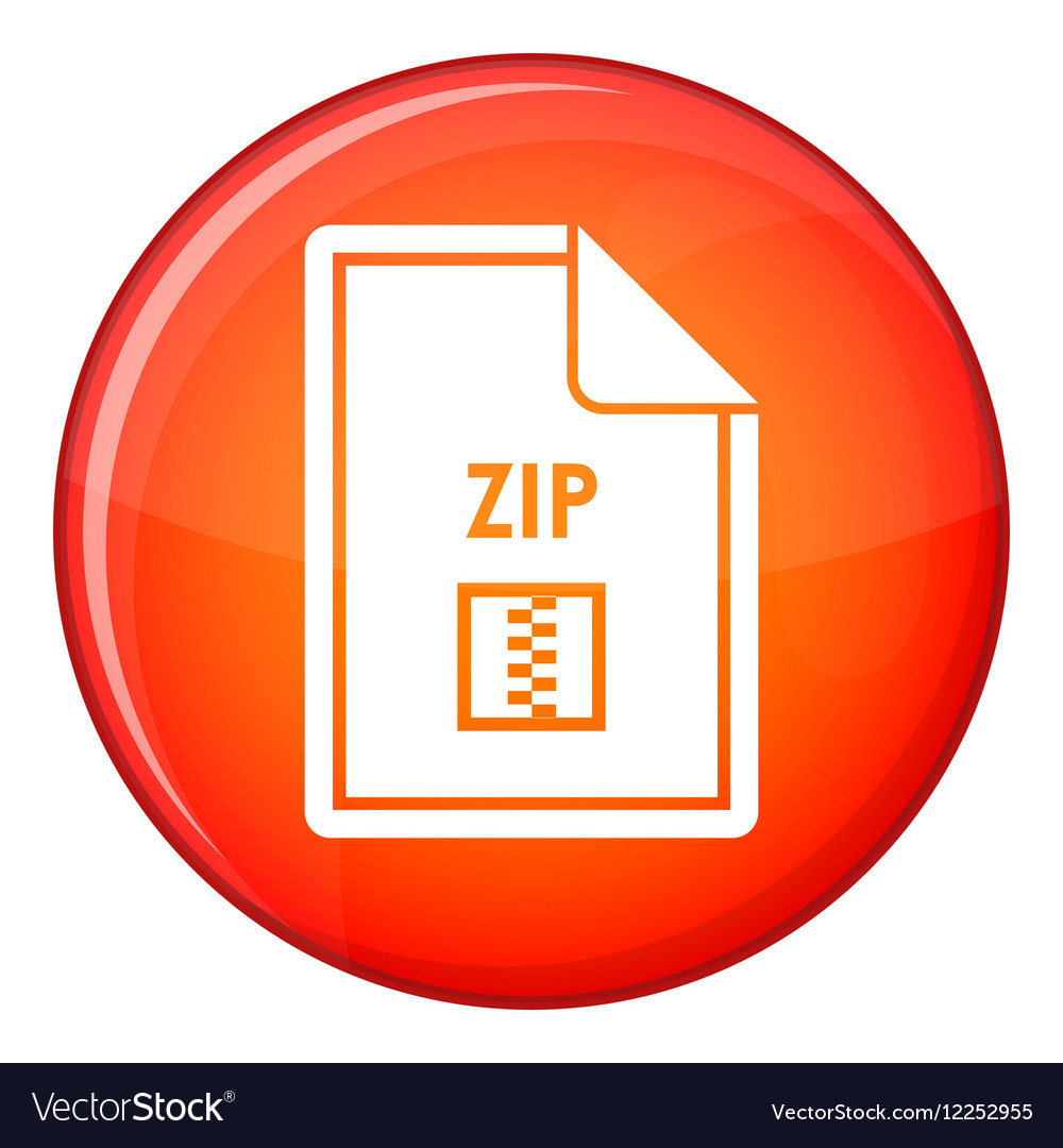 File ZIP icon flat style
