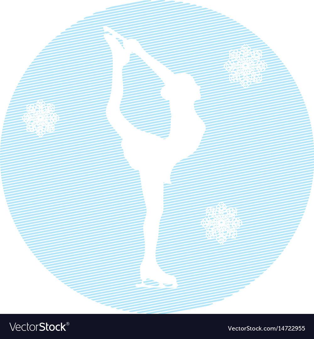 Ice skater on a white background