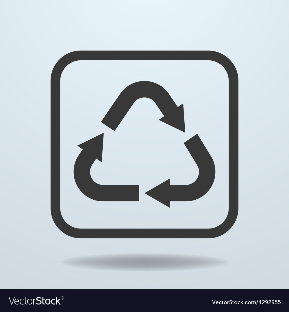 Icon of Recycle sign symbol