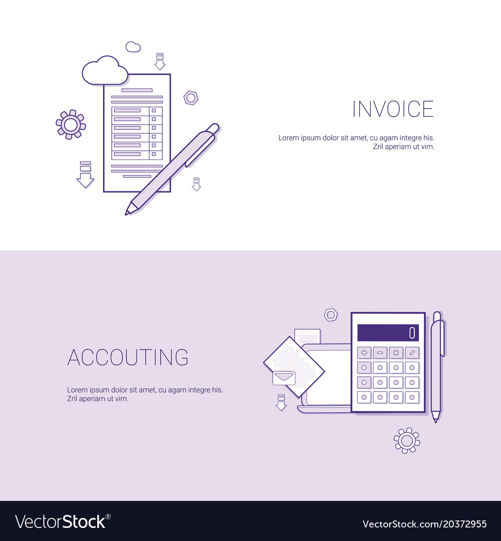 invoice and accounting financial template web vector image