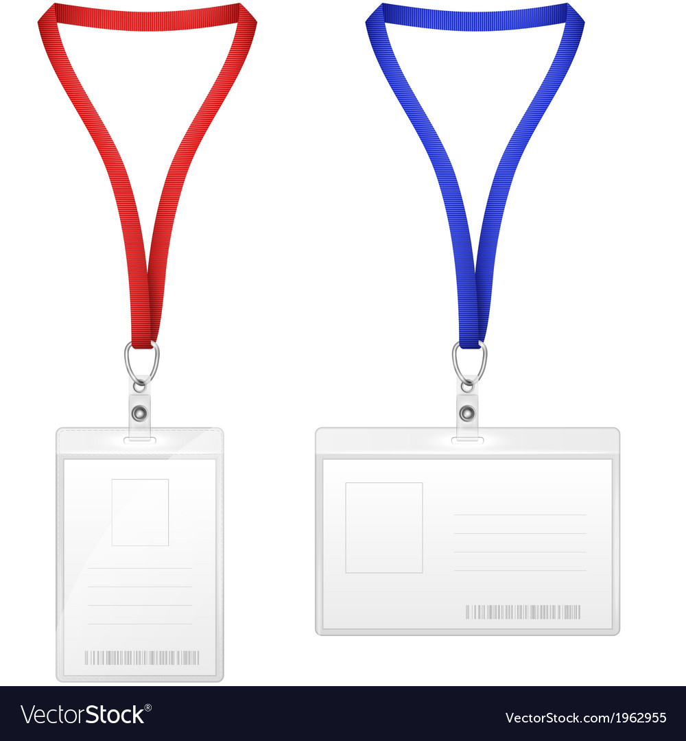 Plastic Vertical And Horizontal Badges vector image