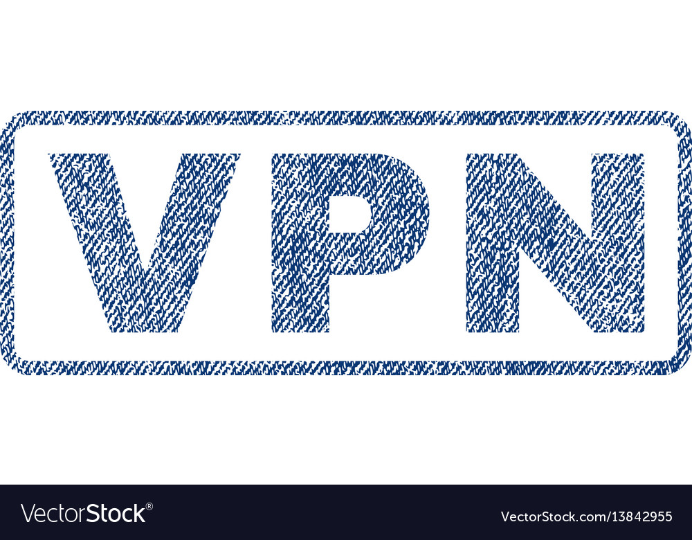 Vpn textile stamp vector image