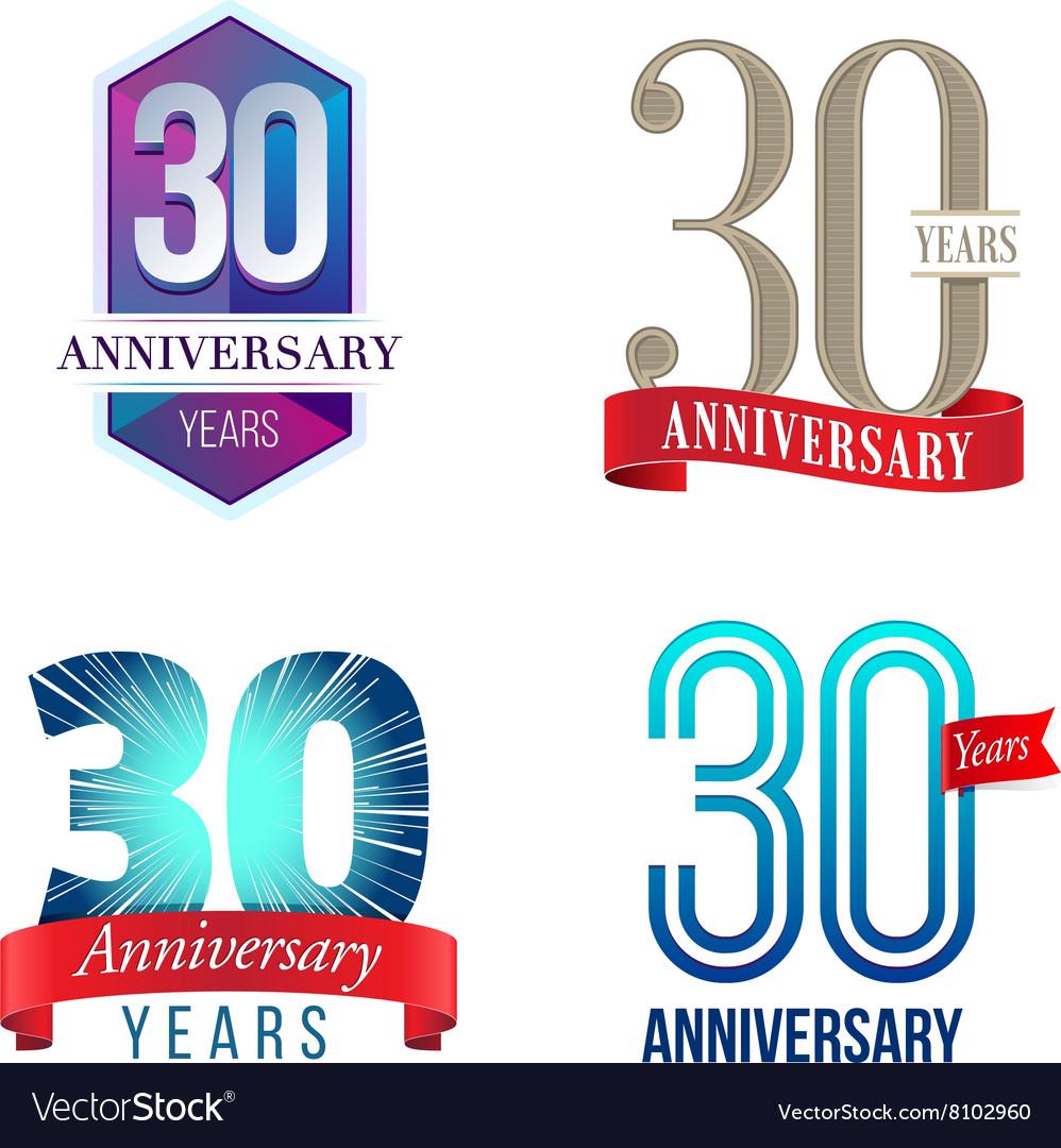 30 Years Anniversary Symbol