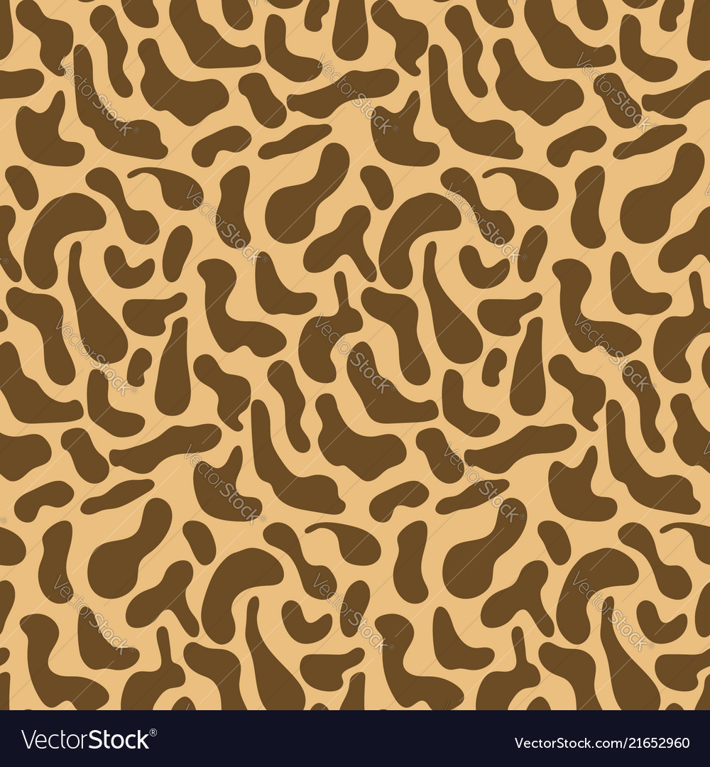 Cute brown pattern with hand drawn giraffe spots