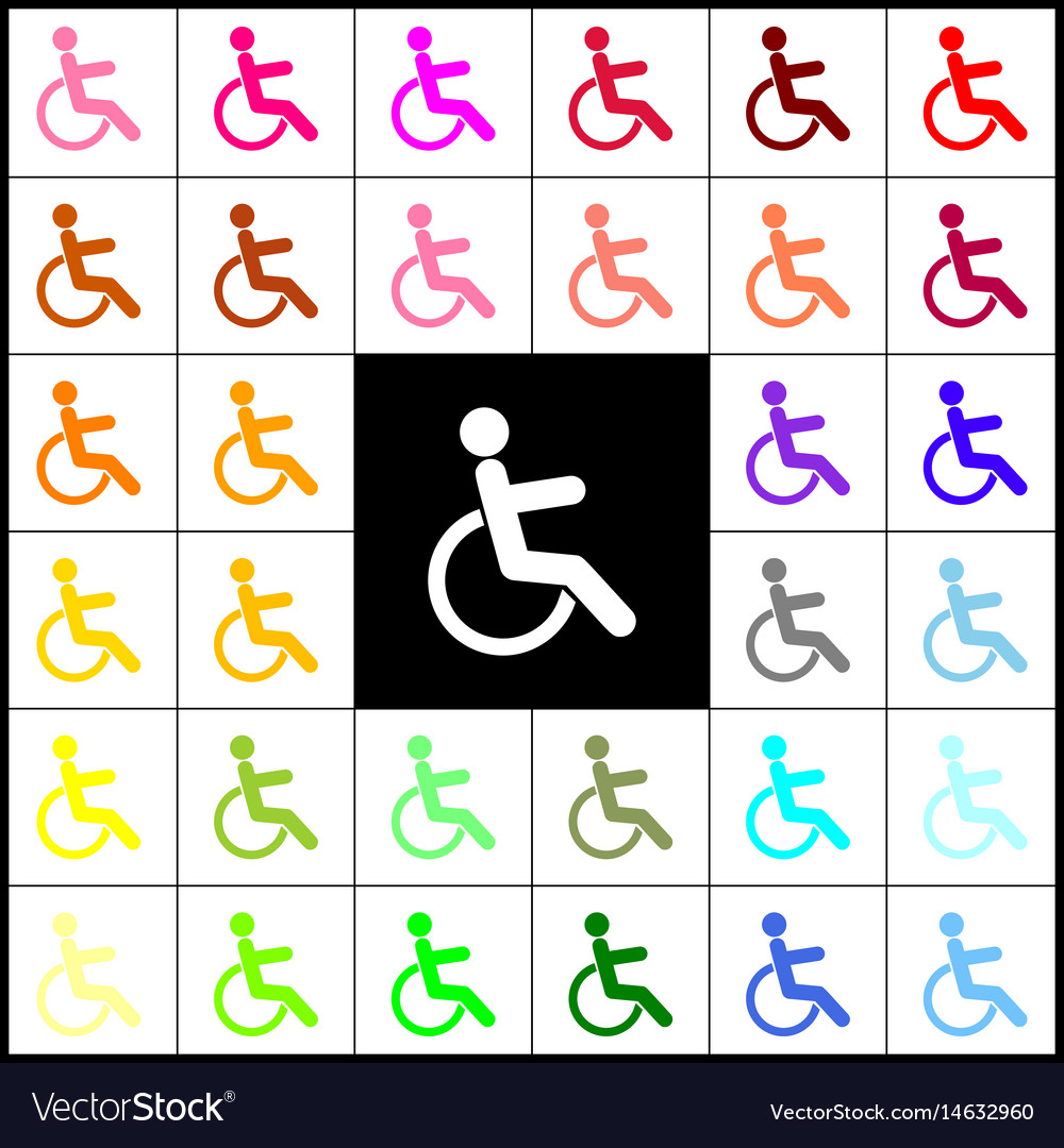 Disabled sign felt-pen 33