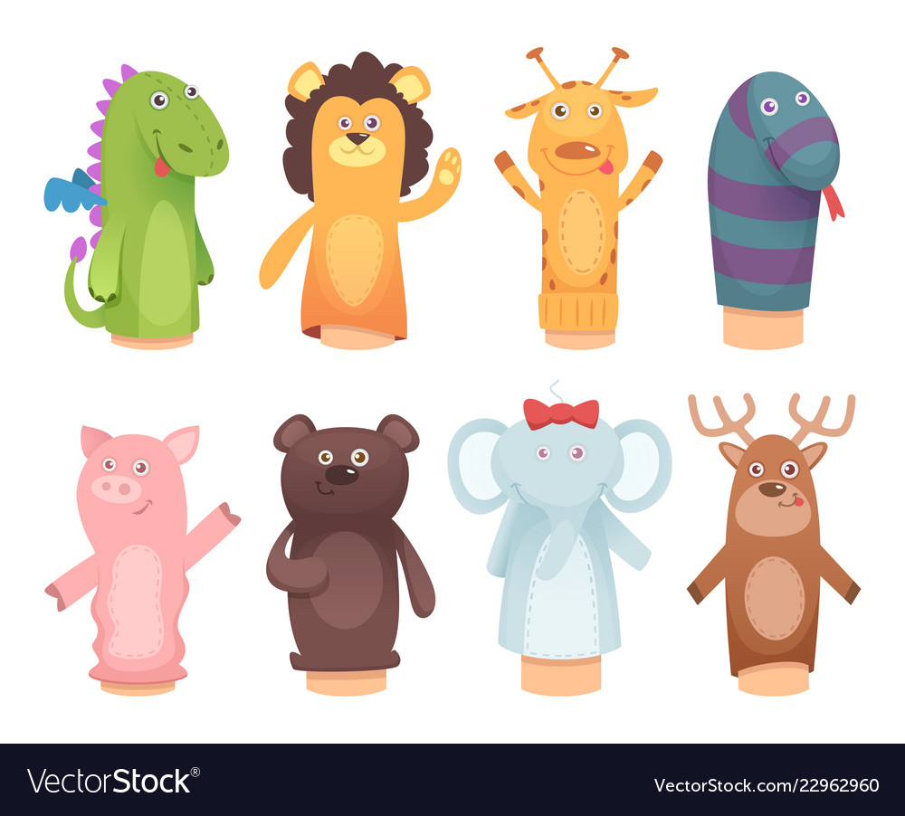 Hands puppets toys from socks for kids funny