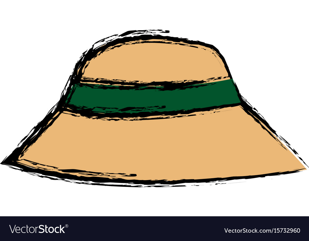 Hat man protection sun vacations image vector image