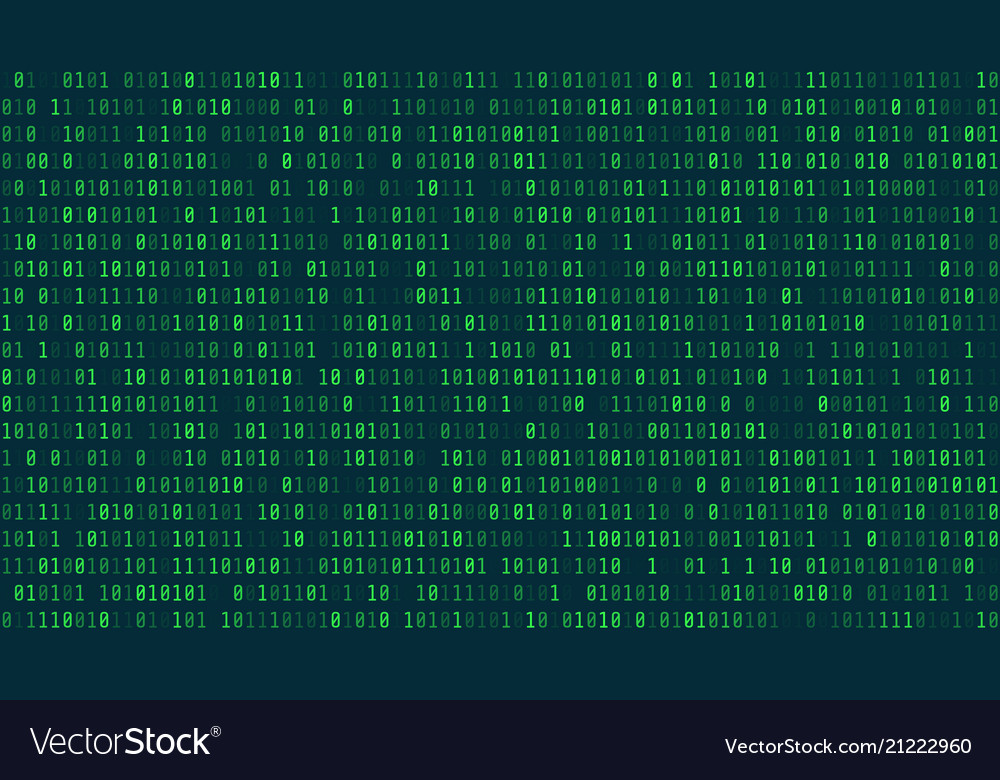 Matrix background style computer virus and hacker
