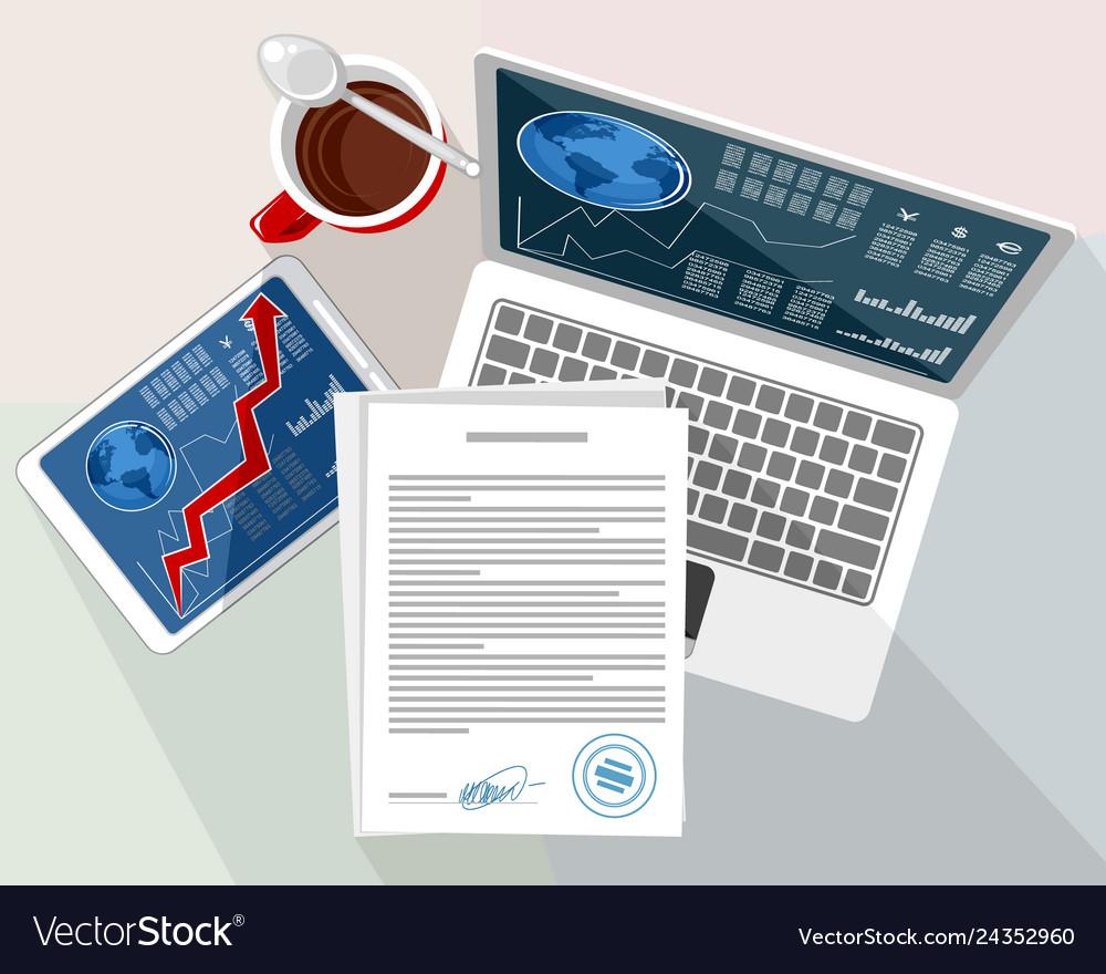 Objects on the desktop