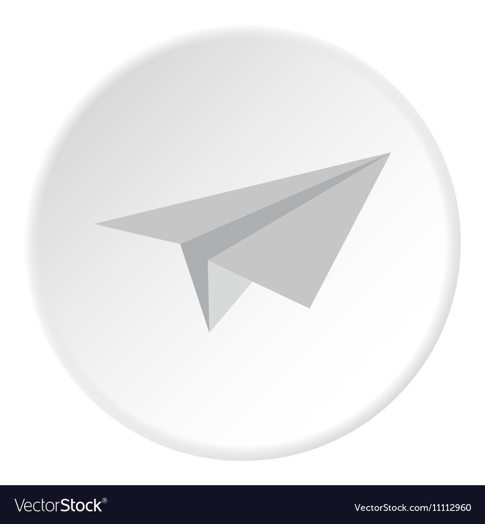 Paper plane icon flat style
