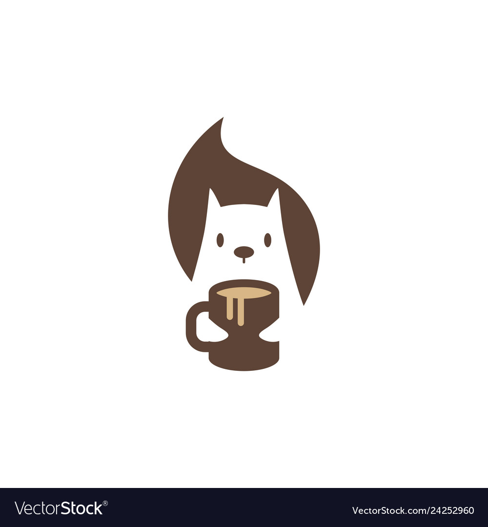 Squirrel coffee mug logo icon mascot character
