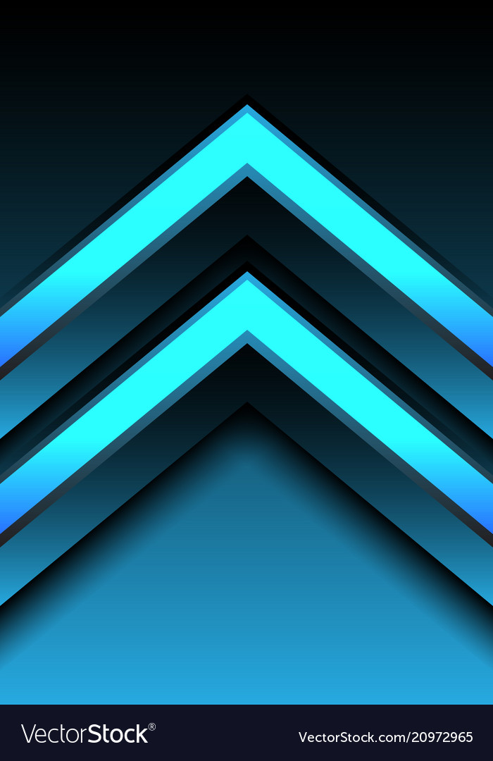 Abstract blue light arrow direction 3d design
