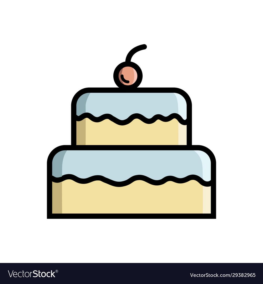 Wondrous Cake Birthday Cake Icon Design Template Vector Image Funny Birthday Cards Online Inifodamsfinfo