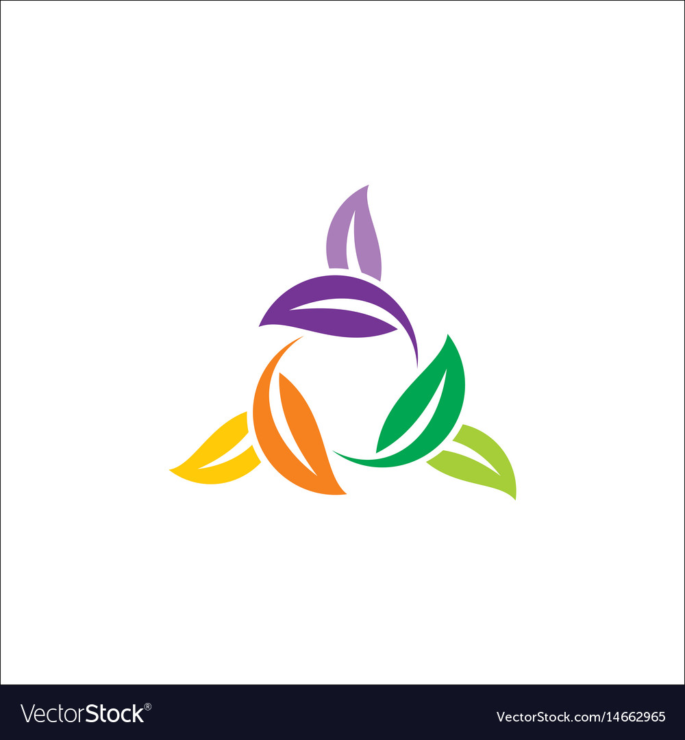 Circle leaf colored logo
